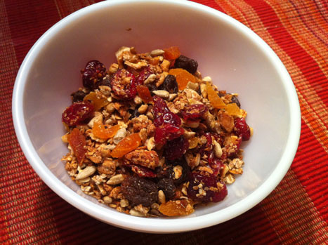 Make your own Meusli (musli in swedish), it is tasty and healthy.